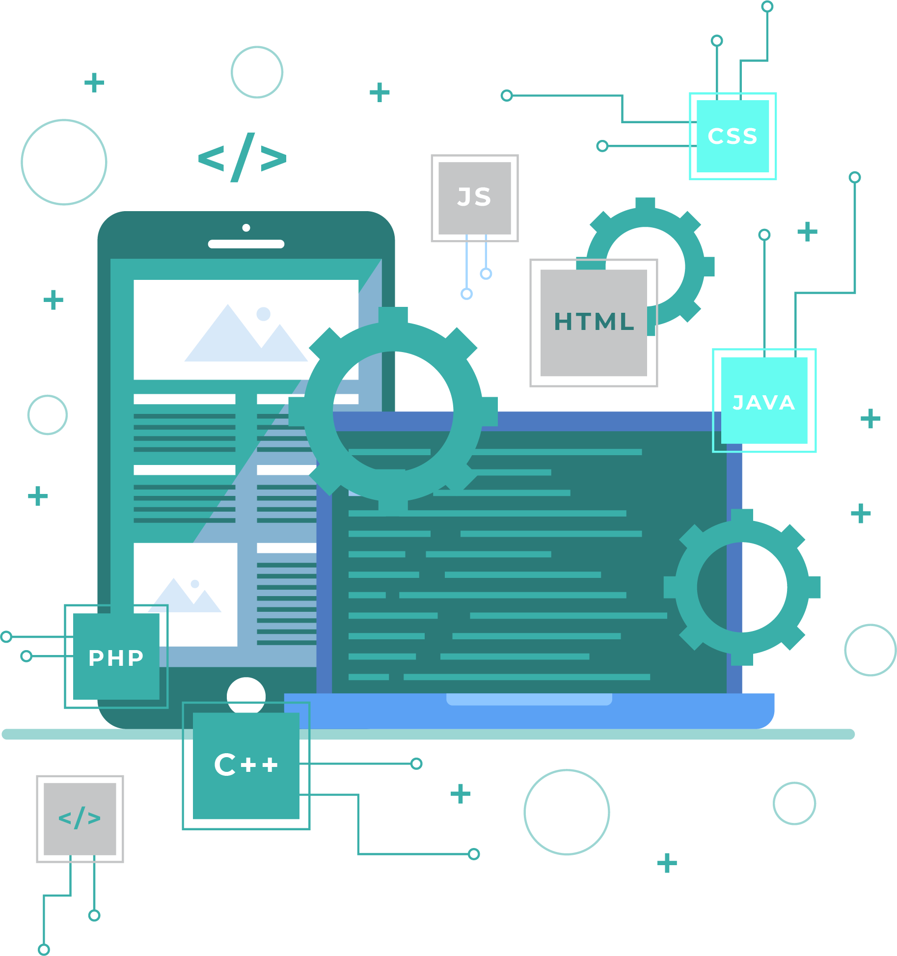 web and mobile application development icon